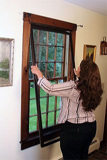 The Innerglass Compression Window is a vinyl framed glass interior