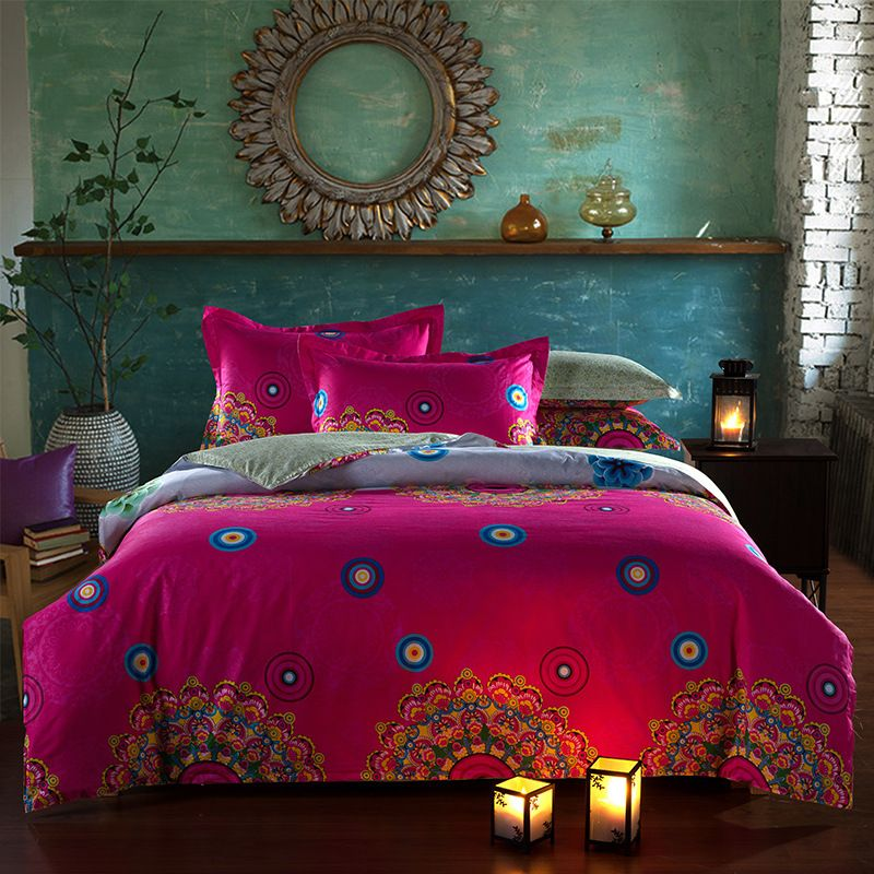 cotton bedding set classical chinese style wedding bed set king size twill duvet cover sets flat bed sheets home