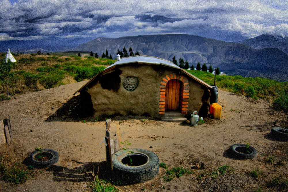 Ecuador Earthbag underground home; this link discusses more details of the construction process.