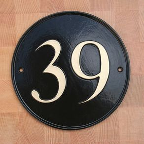 ANTIQUE STYLE ENAMEL DOOR NUMBER 9 HOUSE NUMBER DOOR SIGN PLAQUE