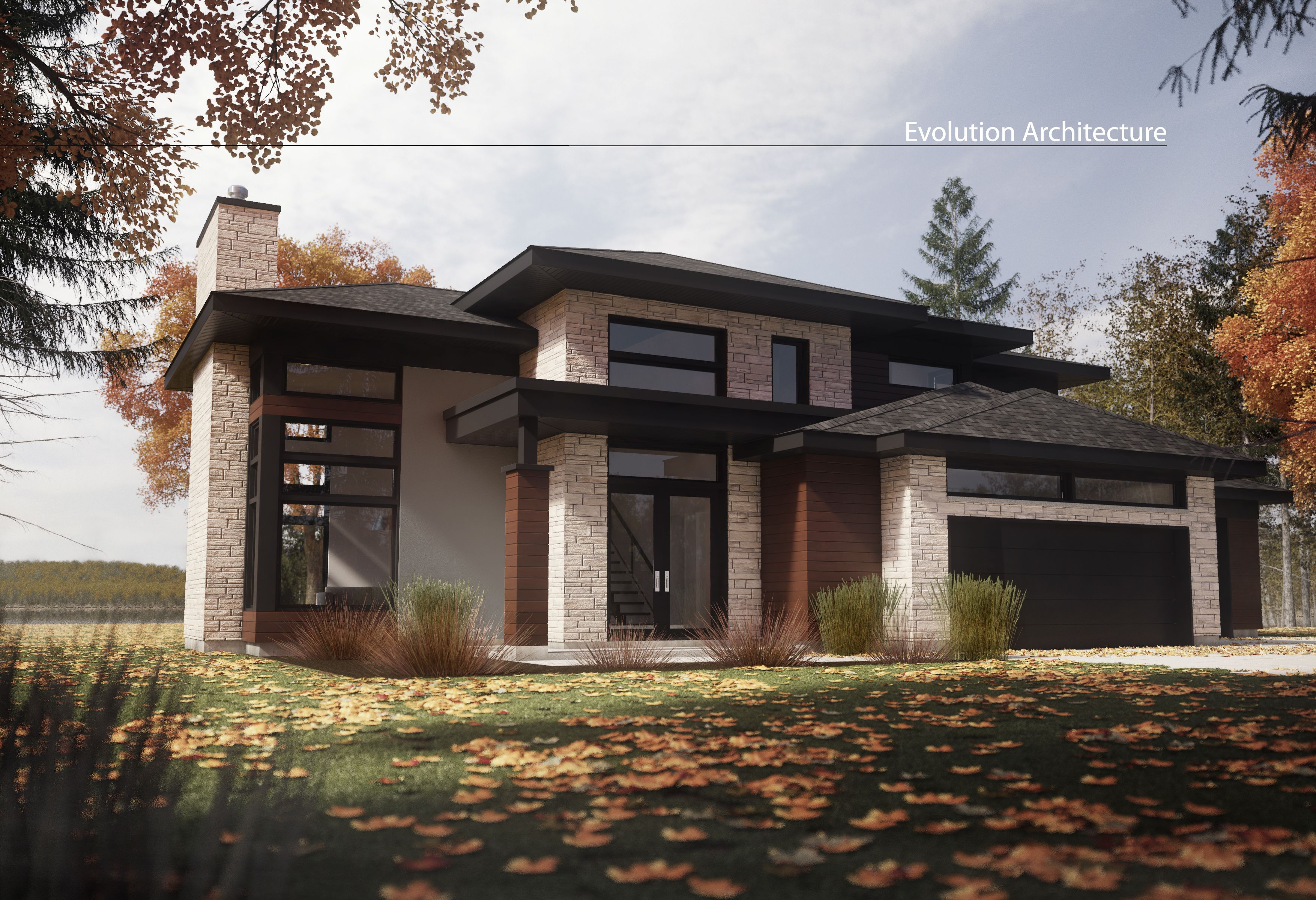 Evolution architecture maison moderne création exclusive e 947