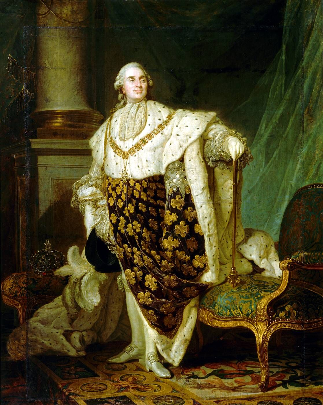 ♥Louis XVI in Coronation Robes, Joseph-Siffred Duplessis (1725 ...
