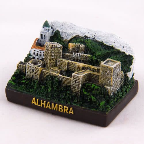Collectible Miniature House Spain Mini Figurine From Granada The Alhambra View