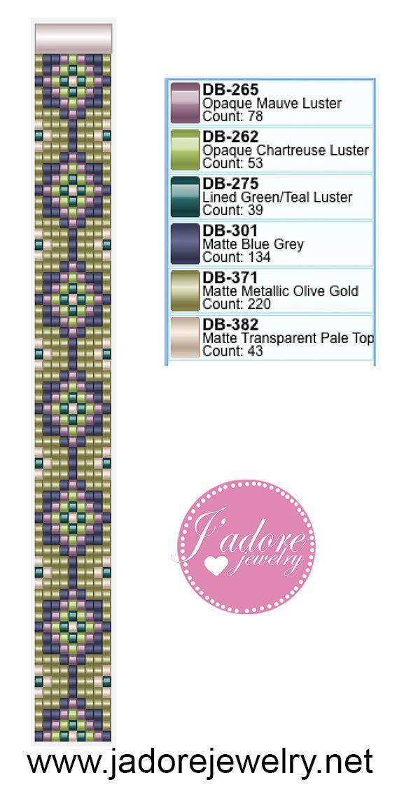 Miyuki delica weefarmband | Punto de crochet | Pinterest | Telar ...