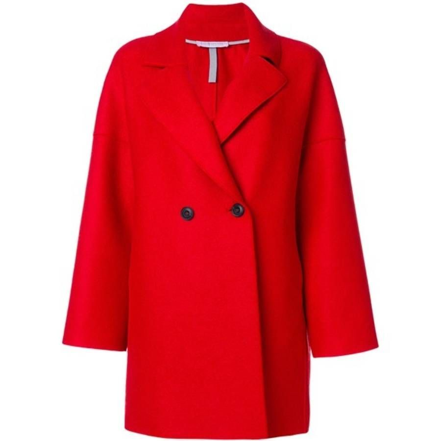 Manteau rouge court Harris Wharf London | Vestes Manteaux
