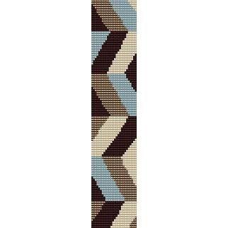 CHEVRON ZIG ZAG - PEYOTE beading pattern for cuff bracelet (buy any 2 patterns - get 3rd FREE)