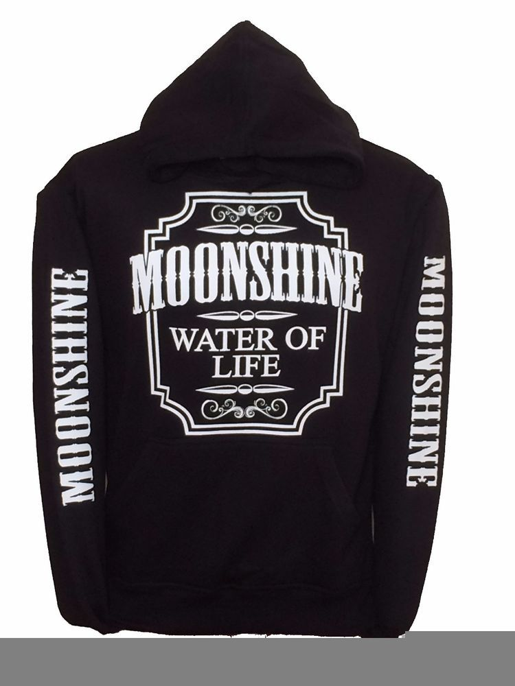 572a36e9b4 Moonshine Water of Life Black Hoodie hooded sweatshirt White Designs  #fashion #clothing #shoes #accessories #unisexclothingshoesaccs  #unisexadultclothing ...