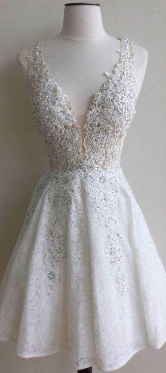 Short Wedding Dress   ♛Short Wedding, Reception, Rehearsal ...