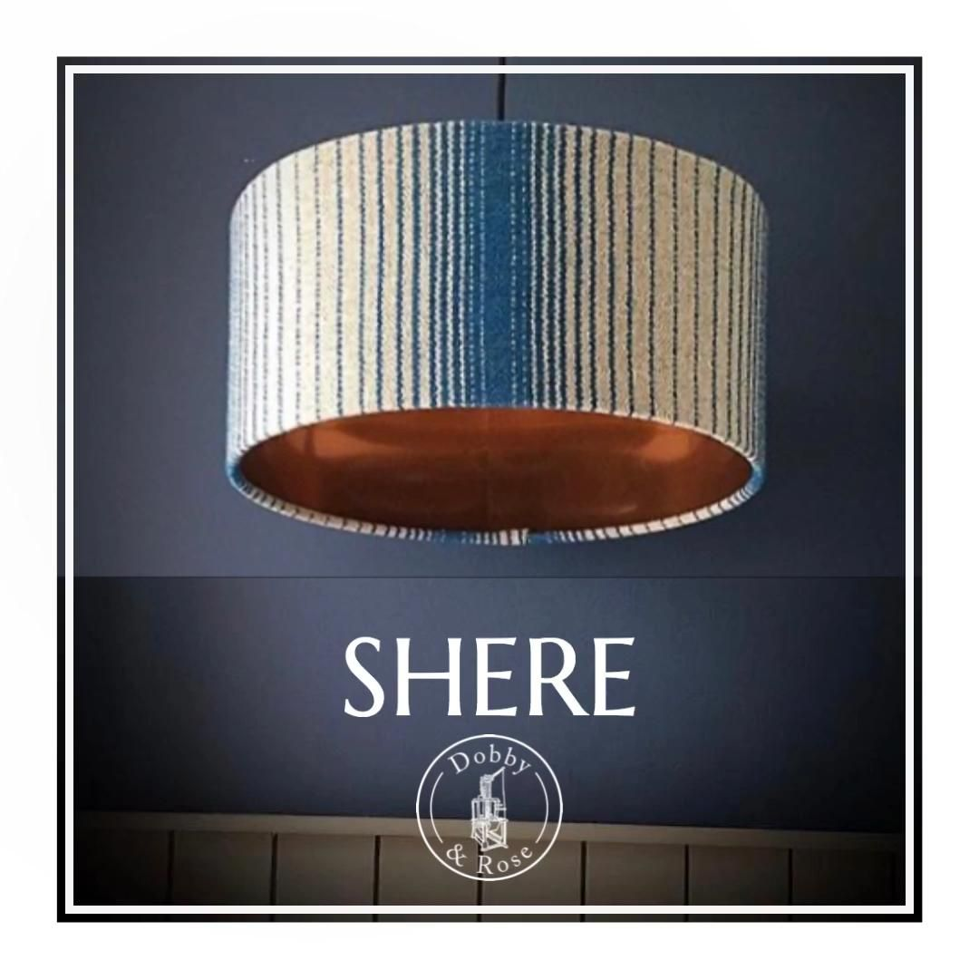 There's something about stripes... never out of fashion, they give a style update that is chic and effortless. The Shere design offers a contemporary twist on the classic, and is available in any colour combination you can imagine! #handwoven #lampshades #interiorstyle #stripes #weaversofinstagram #textiledesign #madeinbritain