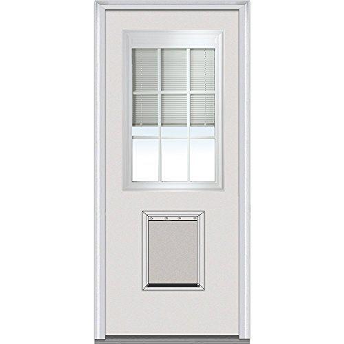 Ordinaire National Door Company EFSF681BLFS30R Entry Door, Prehung Right Hand,  Internal Mini Blinds With Pet