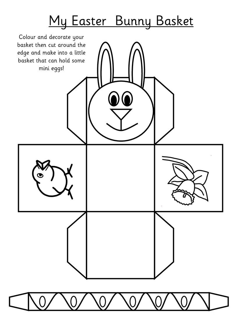 Easter Basket Activity Cutout Sheet Simple Easter Baskets