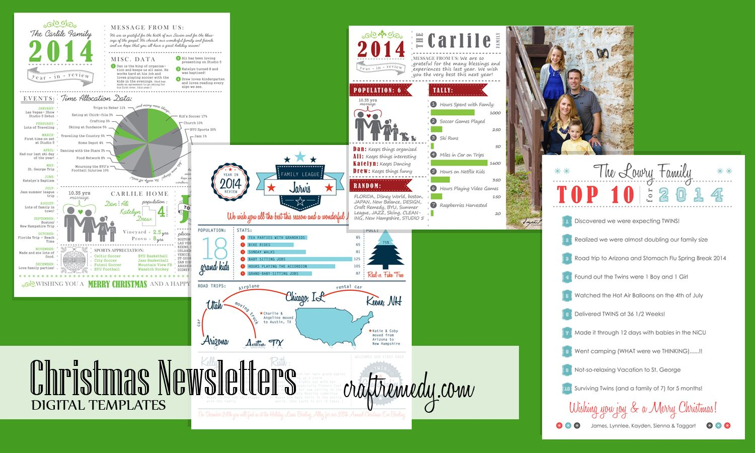 Christmas Newsletter Year In Review Infographic Templates Craft Remedy Christmas Newsletter Christmas Letter Template Christmas Infographic