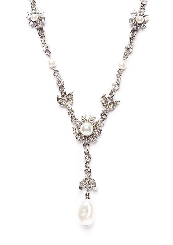 Ocean's Treasure Y Necklace in Silver