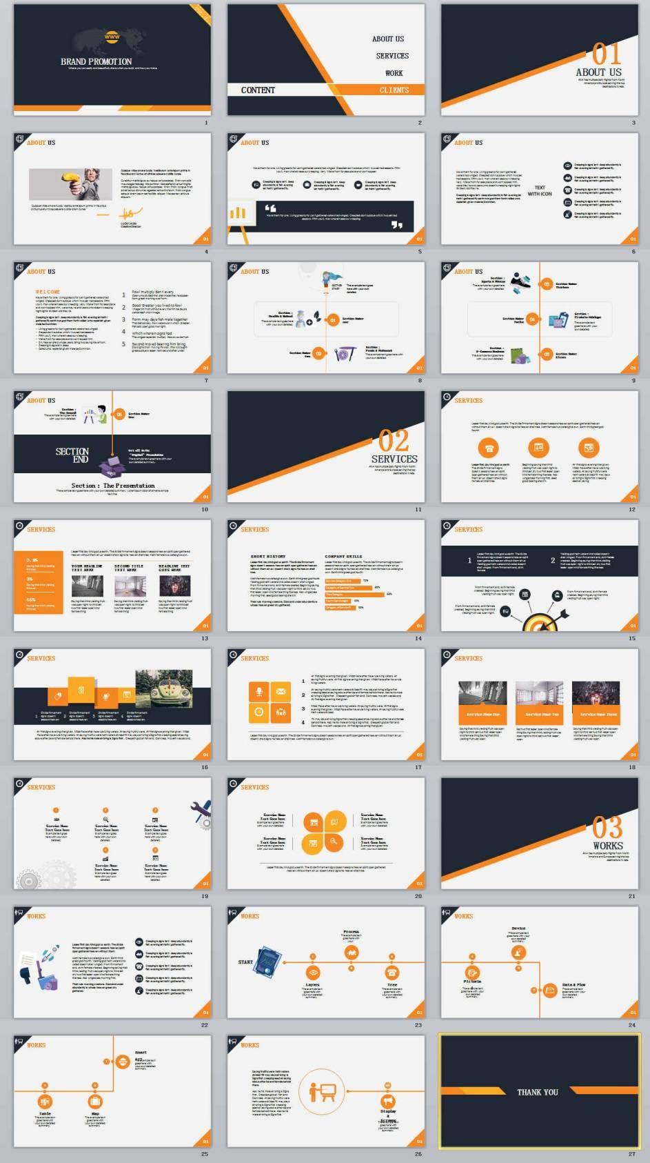 27 brand promotion powerpoint template 0 pinterest powerpoint