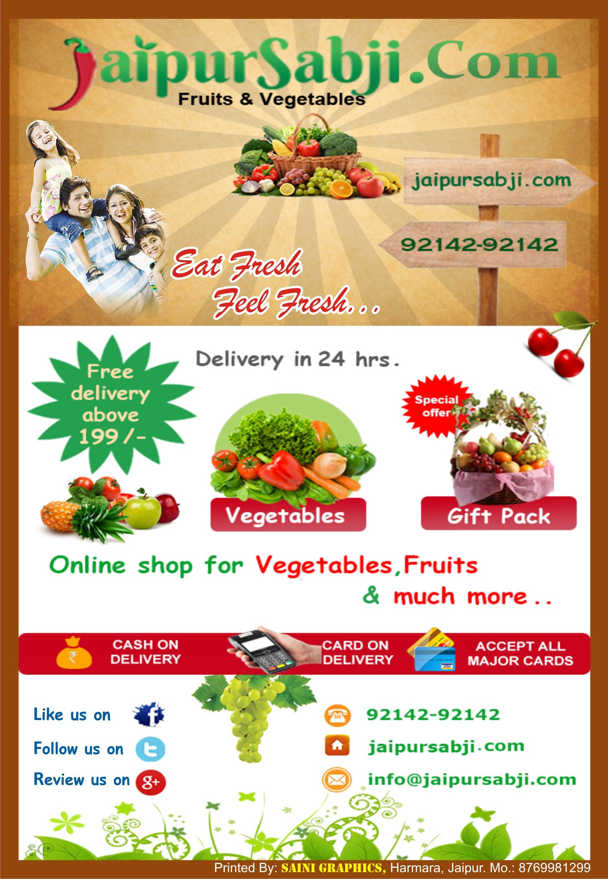 JaipurSabji - Fast Fruits & Vegetable Supplier Jaipur