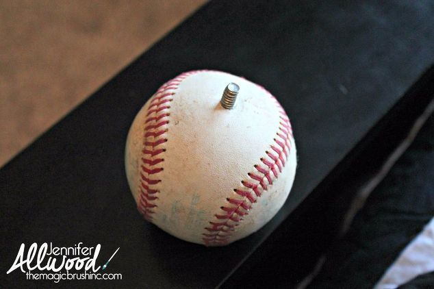 Turn Baseballs Into Playful Curtain Finials Baseball Curtains