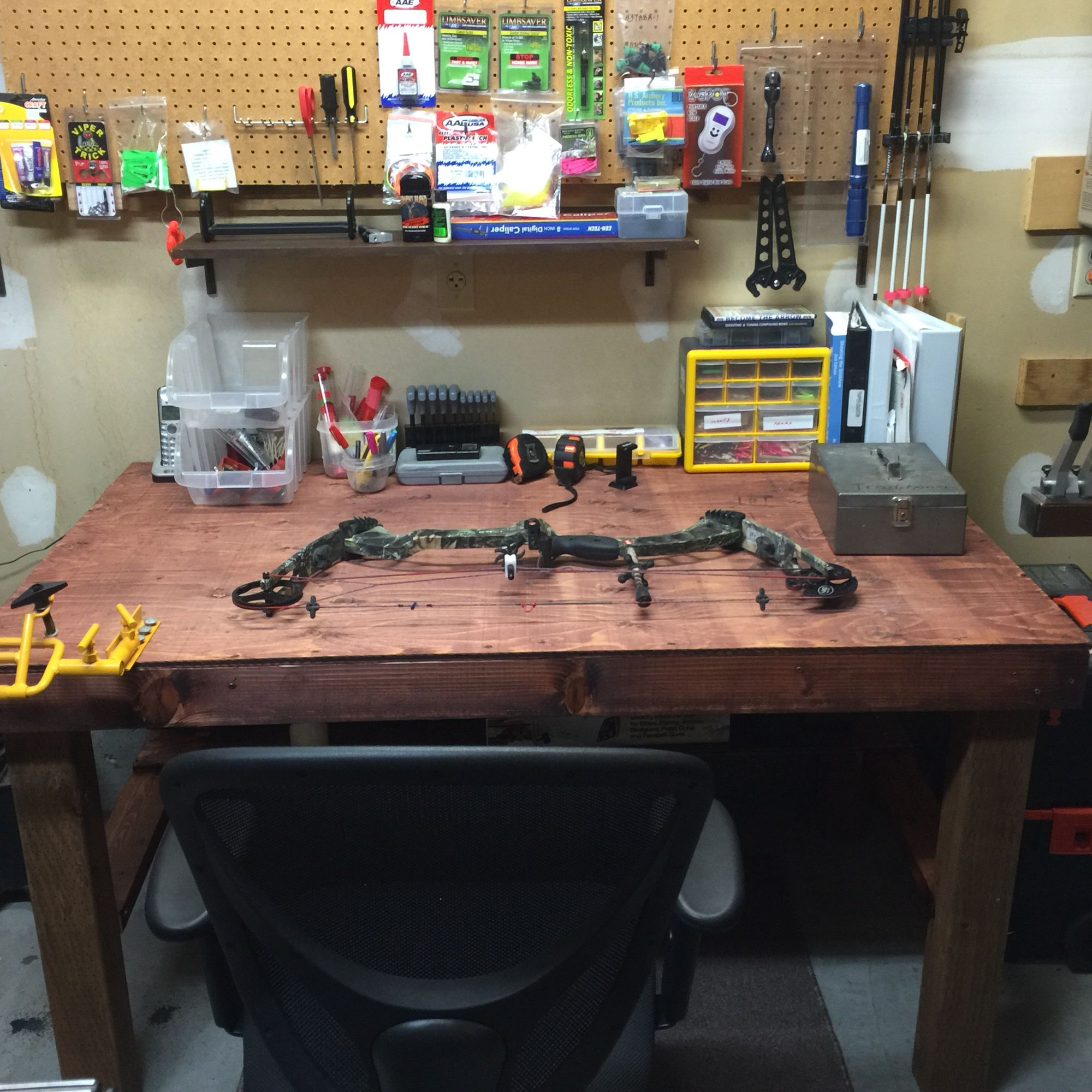I Just Finished This Archery Workbench From Scratch. It's