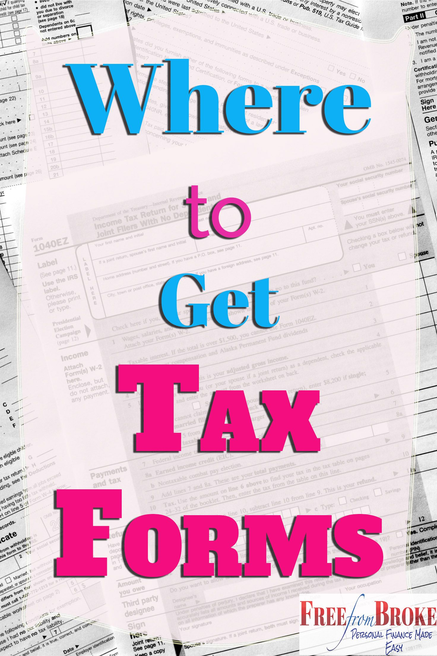 Where Can I Get IRS Tax Forms and Options to File Free | Pinterest ...