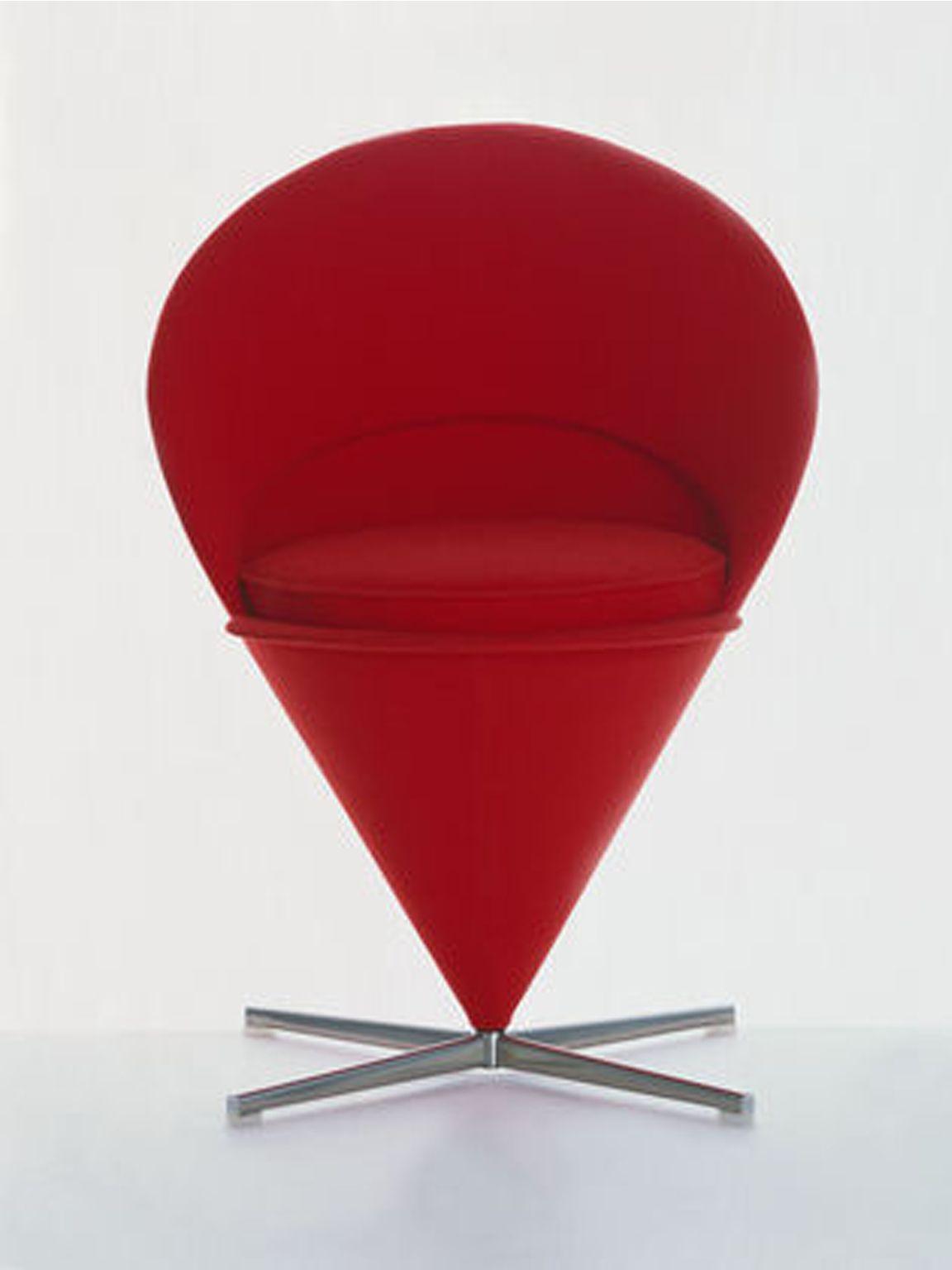 Cone chairverner panton for vitra tavolo e sedie sedia