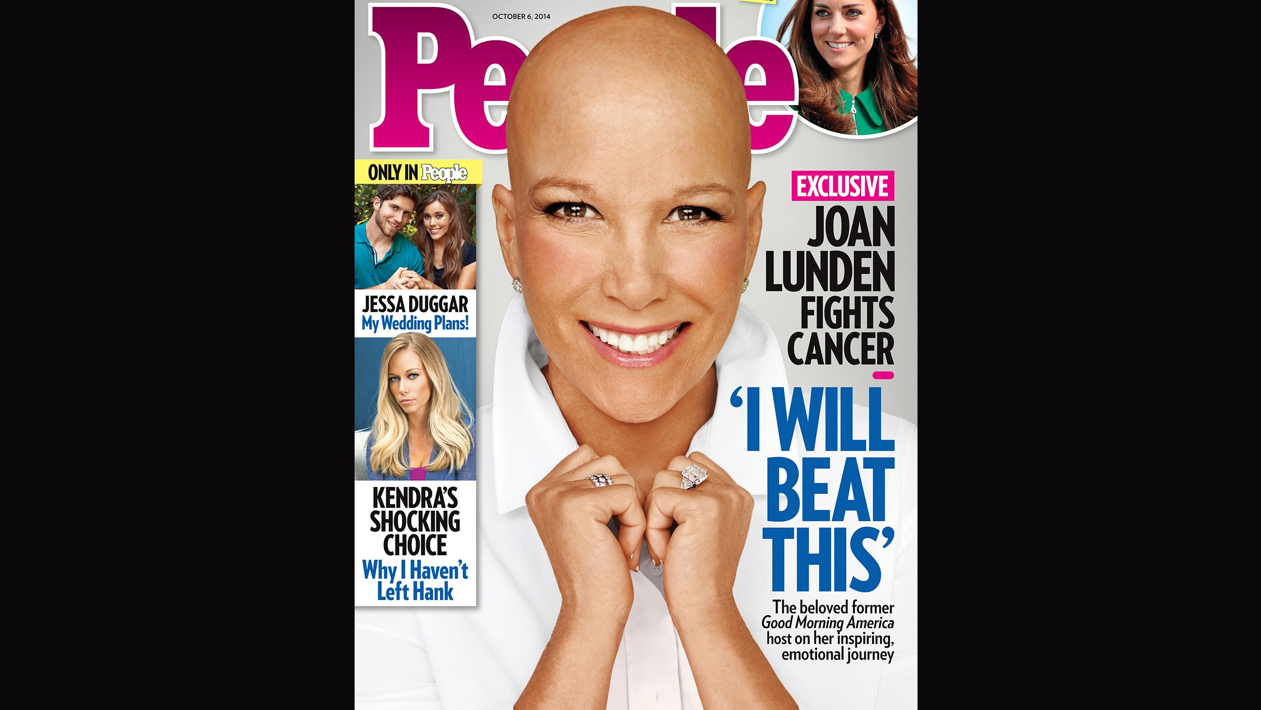 A bald and beautiful Joan Lunden appears on People cover