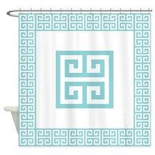 Greek Key Pattern 1 Shower Curtain