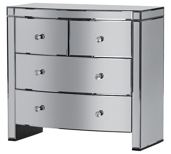 Buy Heart of House Canzano 4 Drawer Mirrored Chest at Argoscouk