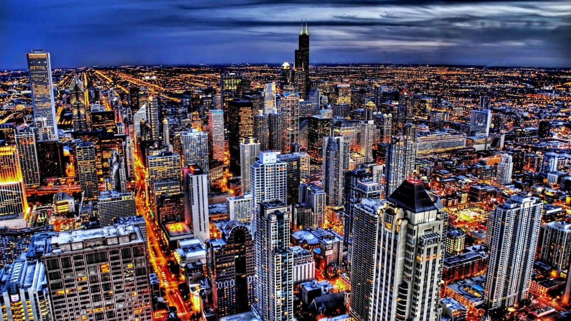 Chicago Night Lights | American cities | City photos