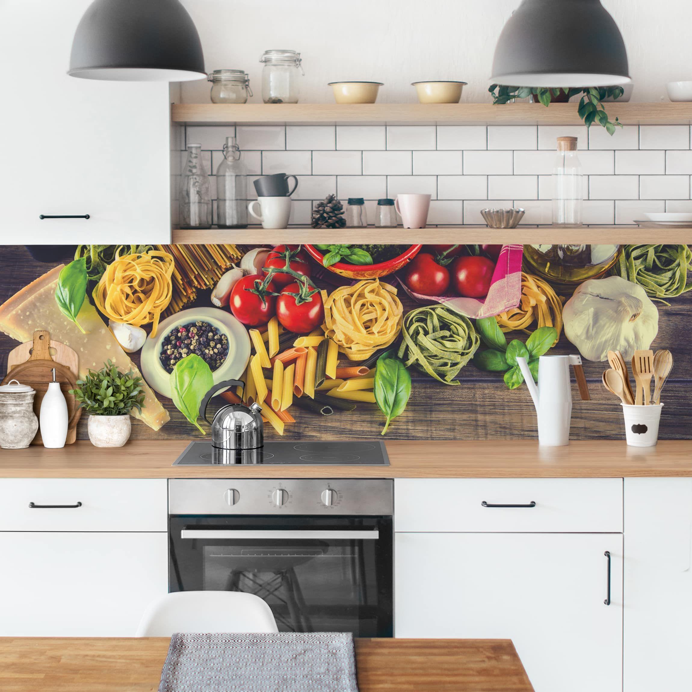 Küchenrückwand Pasta in 2020 Küche klebefolie