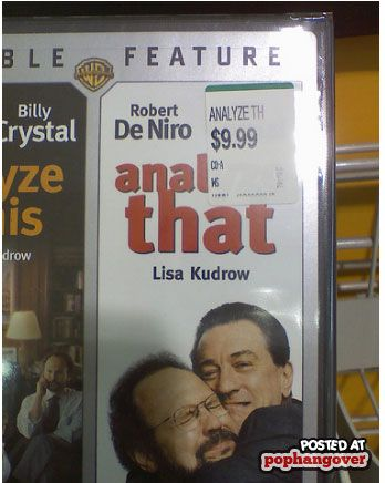 Poorly placed price sticker