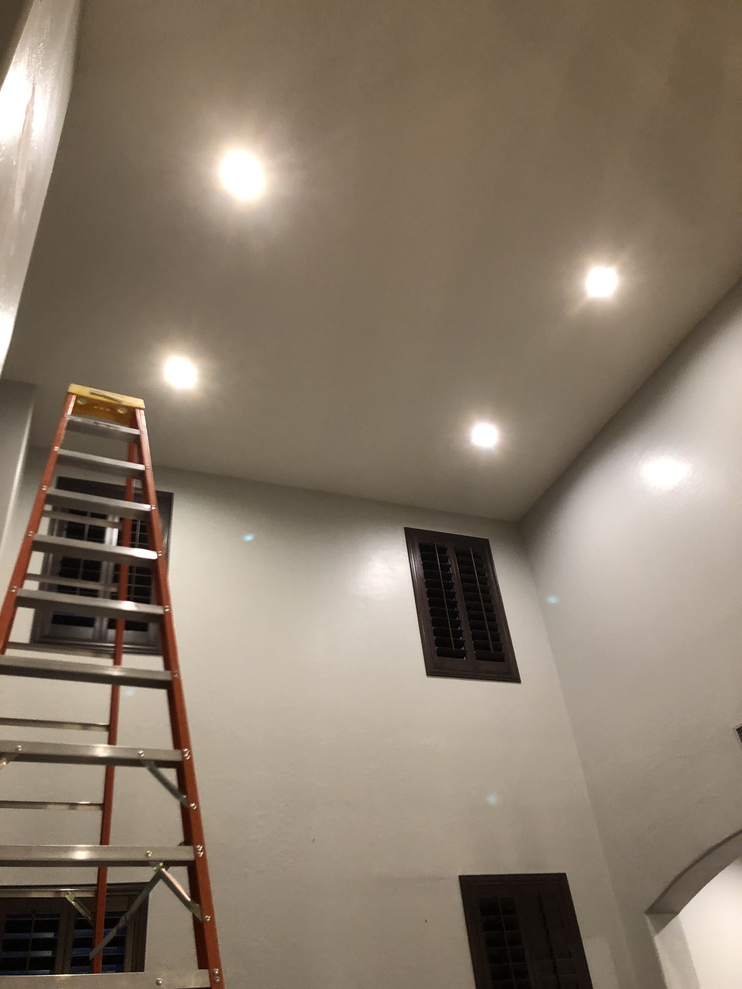 20 foot ceilings with a new switch az recessed lighting