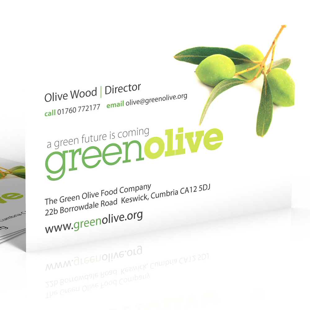Green olive business card designs pinterest business cards 4500 business cards printed on card print 1 side reheart Image collections