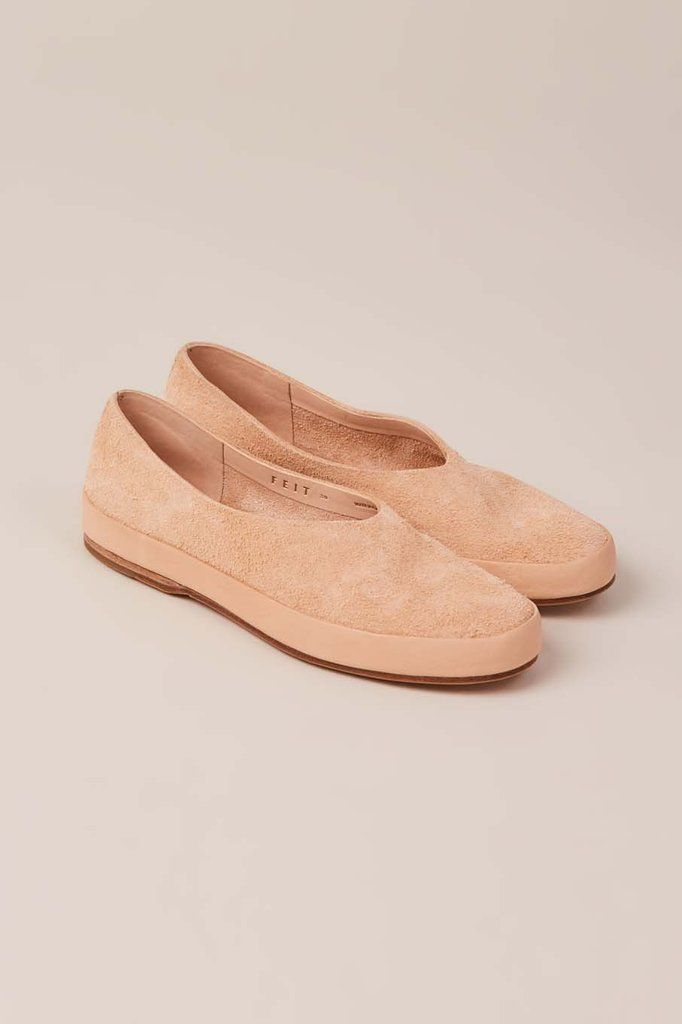 Hand Sewn Ballet Shoes, Natural Suede