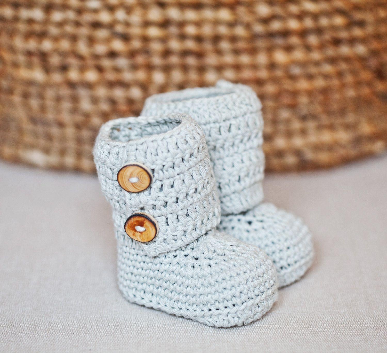 Crochet PATTERN - Baby Ankle Boots | Crochet patrones, Patrones y ...