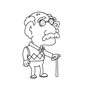 old man Coloring Pages Old man Old People Pinterest Clip