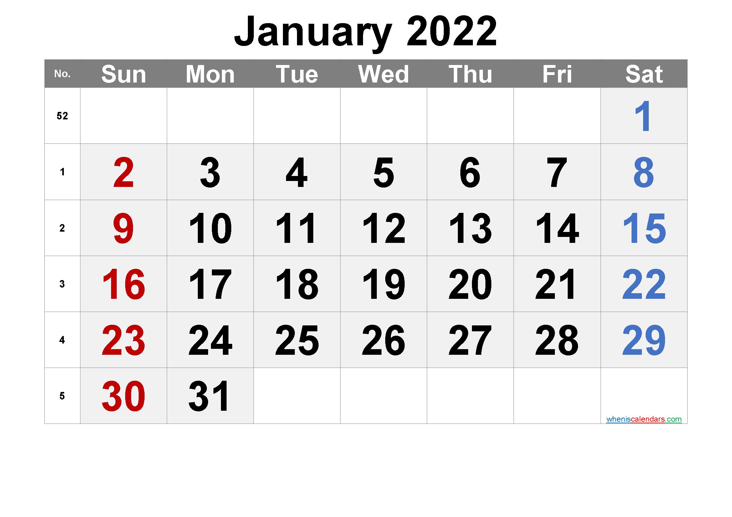 Daily Calendar 2022.Free Printable Calendar 2022 January Free Premium Calendar Printables Printable Calendar Printable Calendar Design