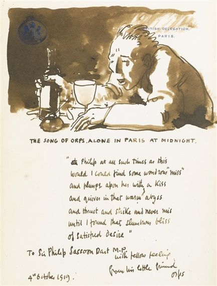 William Orpen The Song Of Orps Alone In Paris At Midnight