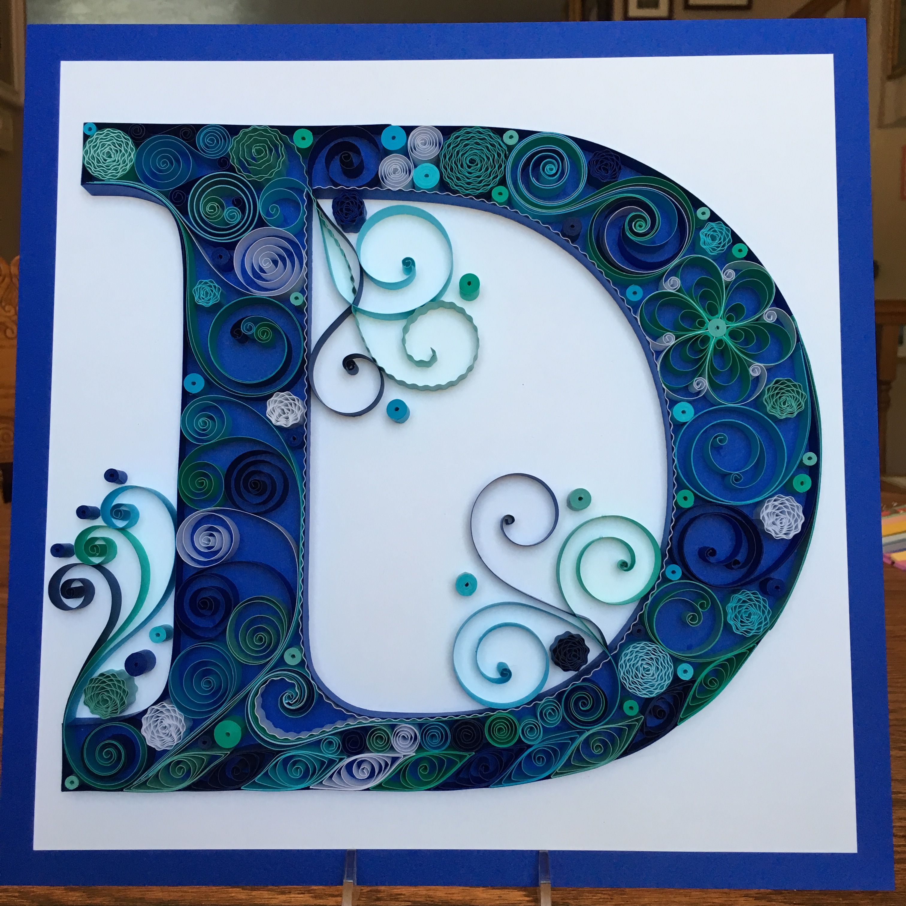 31c130fa6fb2c0407416b57340072b83 Quilling Letter Template D on