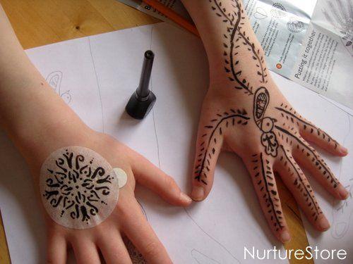 Henna math games  making mehndi patterns