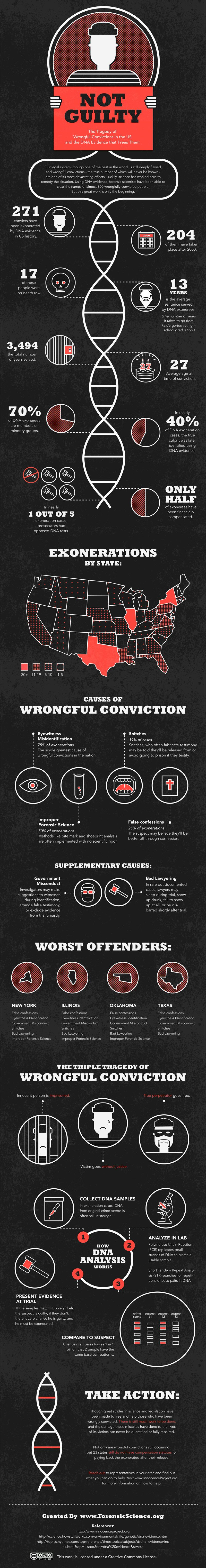 Infographic: Wrongful Conviction Statistics - Daily Inspiration