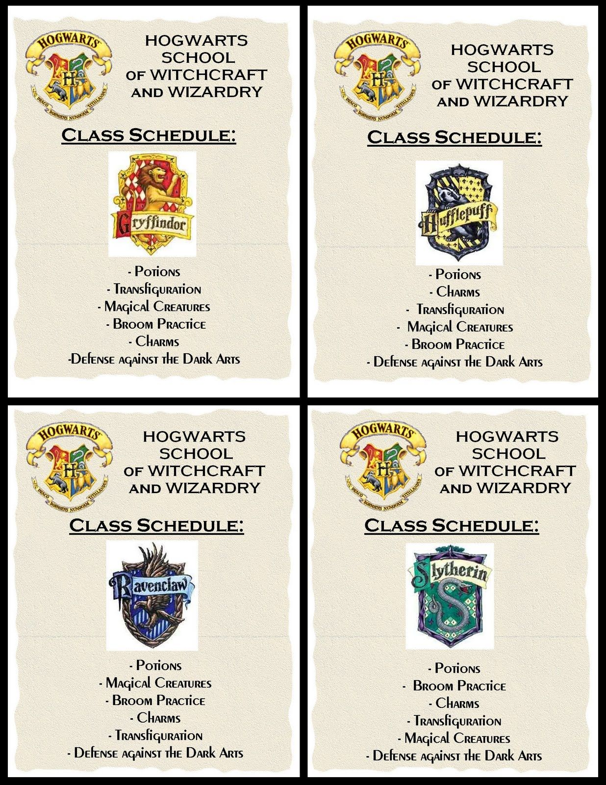 Class Schedules Creative And Cheap