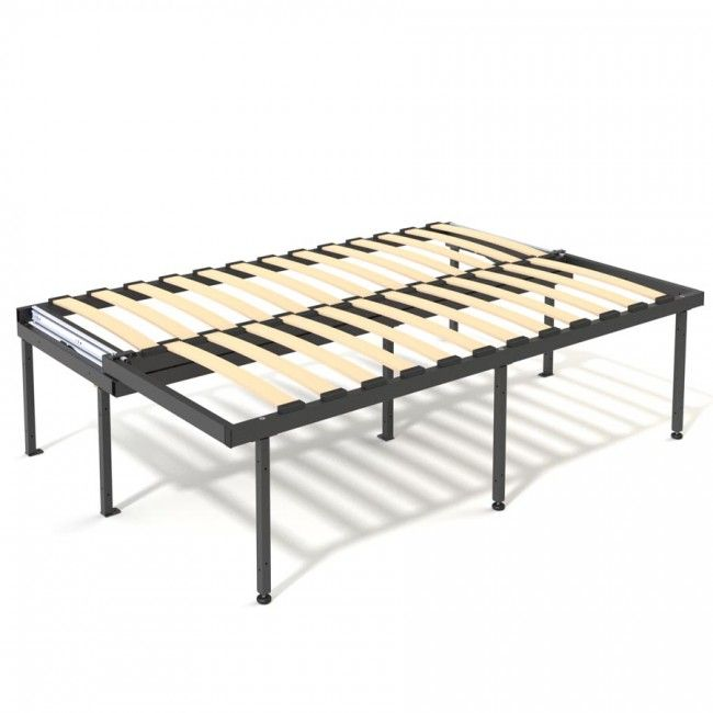 Slatted 1830 X 686 X 422mm Pull Out Lift Up Bed Frame Black