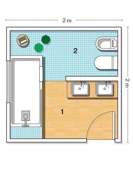 Un baño con zonas separadas | baños | Bathroom, Bathroom plans y Bath