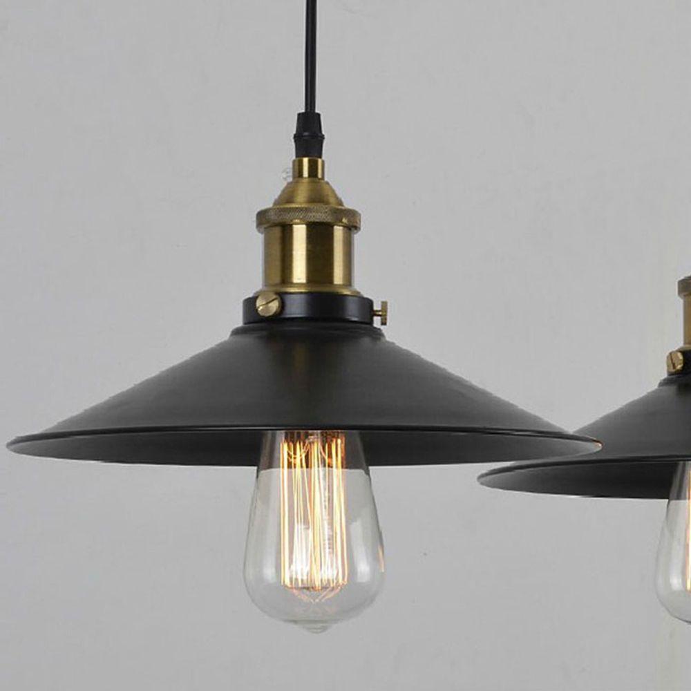 Metal Pendant Lighting Modern Vintage Industrial Metal Black Loft Bar Ceiling Light Shade