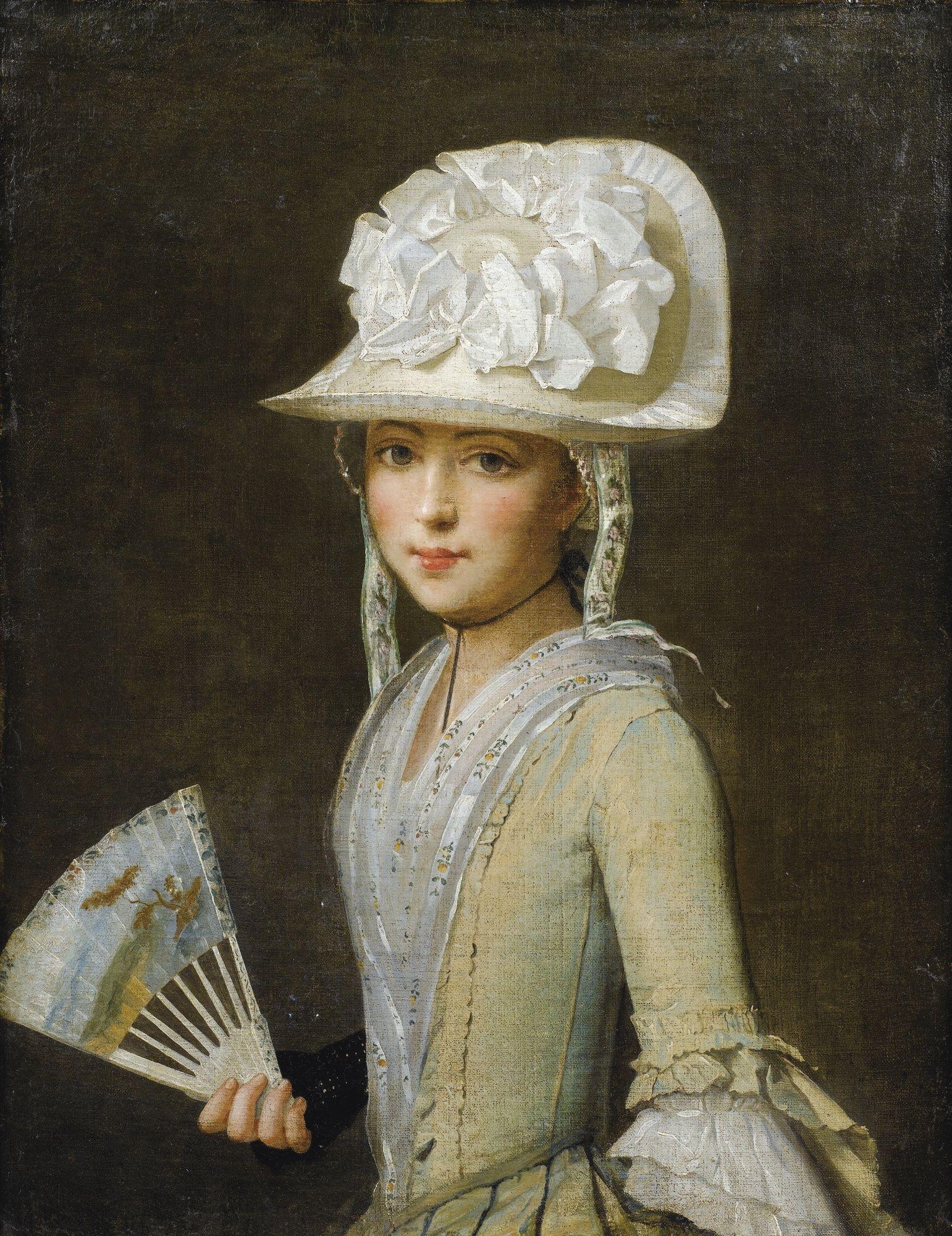 CANVAS Princess Diana Wearing a Hat Art print POSTER