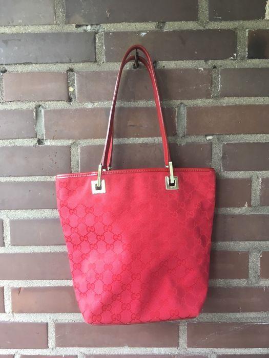 07fa7e6f9849 Gucci vrouwen tas schoudertas tote tas #002 1099 001998 Gucci vrouwen bag  draagtas rood GG