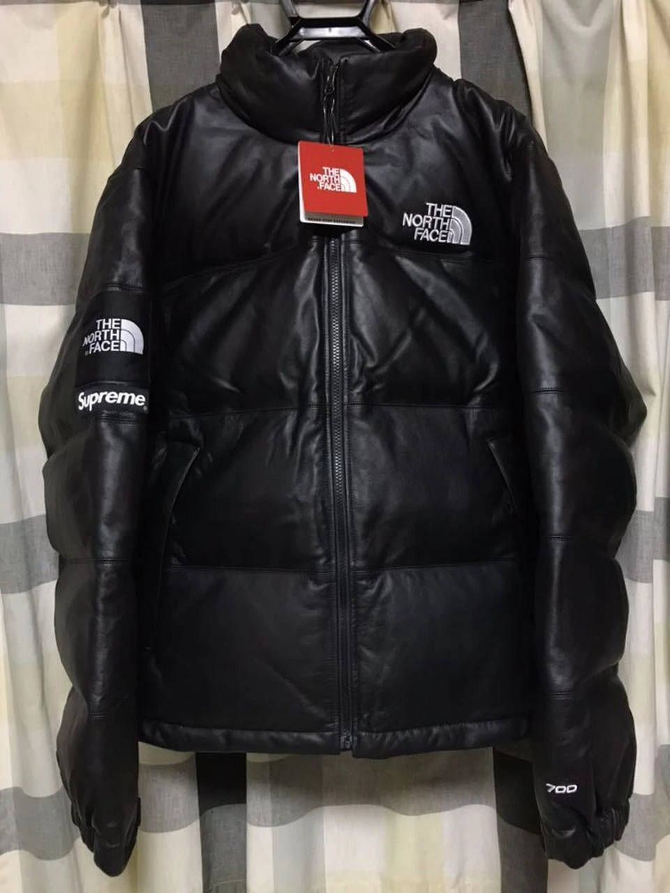Supreme The North Face Leather Nuptse Jacket Black Nuptse Jacket Jackets The North Face [ 1280 x 960 Pixel ]