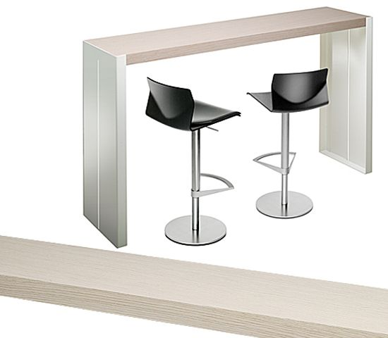 Table haute en bois panco by lapalma design romano marcato