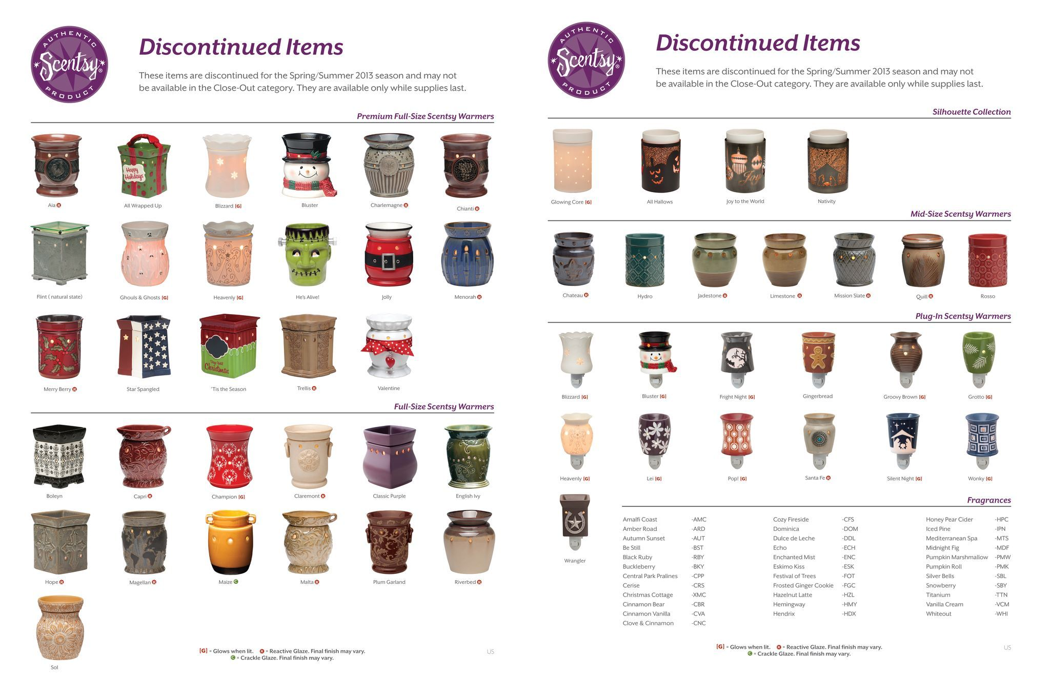 Discontinued Scentsy If Any Of These Warmers Or Scents Have
