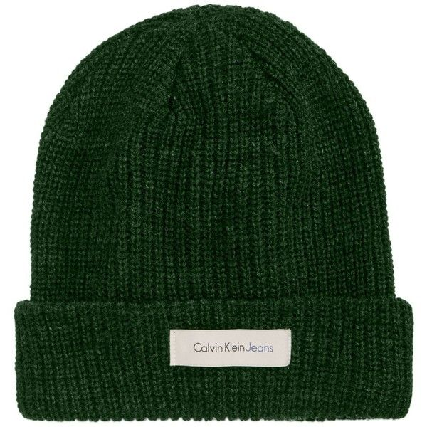e565c638735 Calvin Klein Jeans Men s Knit Beanie ( 11) ❤ liked on Polyvore featuring  men s fashion