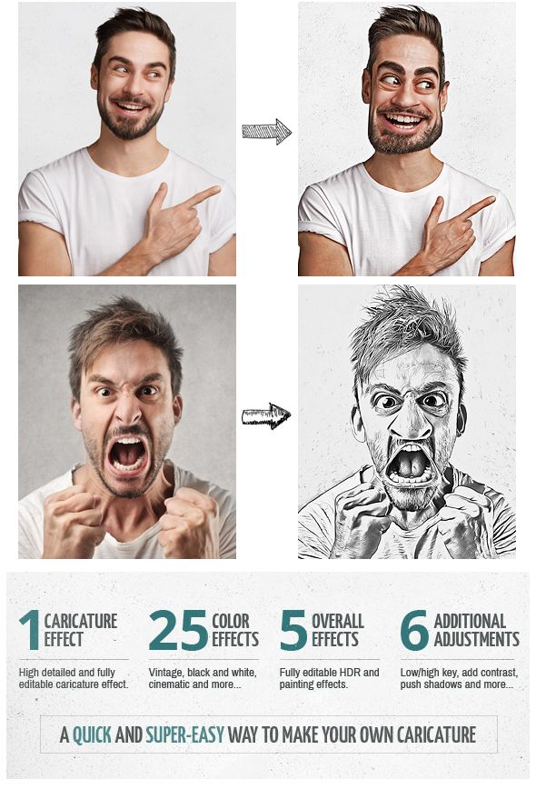 Photo of Caricature Maker – Photoshop Actions